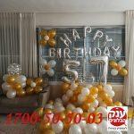 יום הולדת 57 בלונים בלון בועה